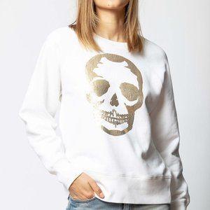 ZADIG & VOLTAIRE 'Upper' Metallic Skull Sweatshirt
